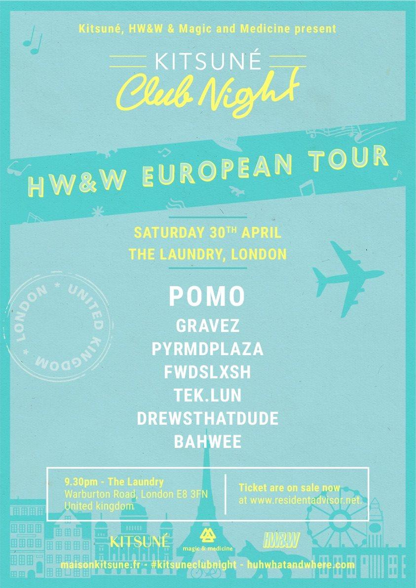 Kitsune Club Night with Pomo, Fwdslxsh, Gravez, Pyrmdplaza - Flyer front