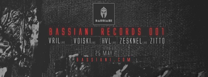Bassiani Records Night: Vril, Voiski, HVL, Zesknel - Flyer front