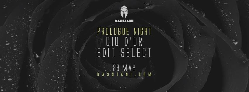 Prologue Night with Cio D'or & Edit Select - Flyer front