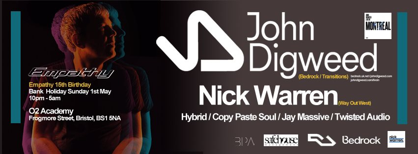 Empathy 15th Birthday with John Digweed / Nick Warren - Flyer front