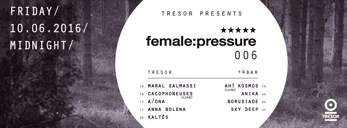 Tresor Meets Female:Pressure - Flyer front
