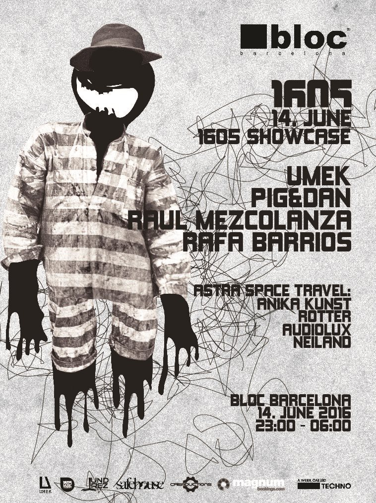 A Week Called Techno Feat. 1605 Showcase - Flyer front