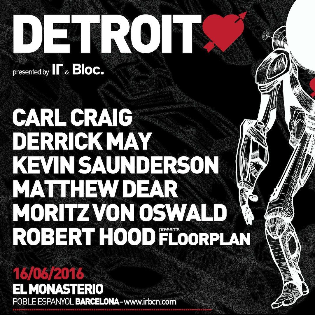 IR & Bloc. present: Detroit Love - Flyer back
