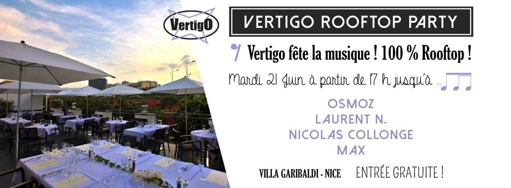 Vertigo Rooftop Party - Flyer front