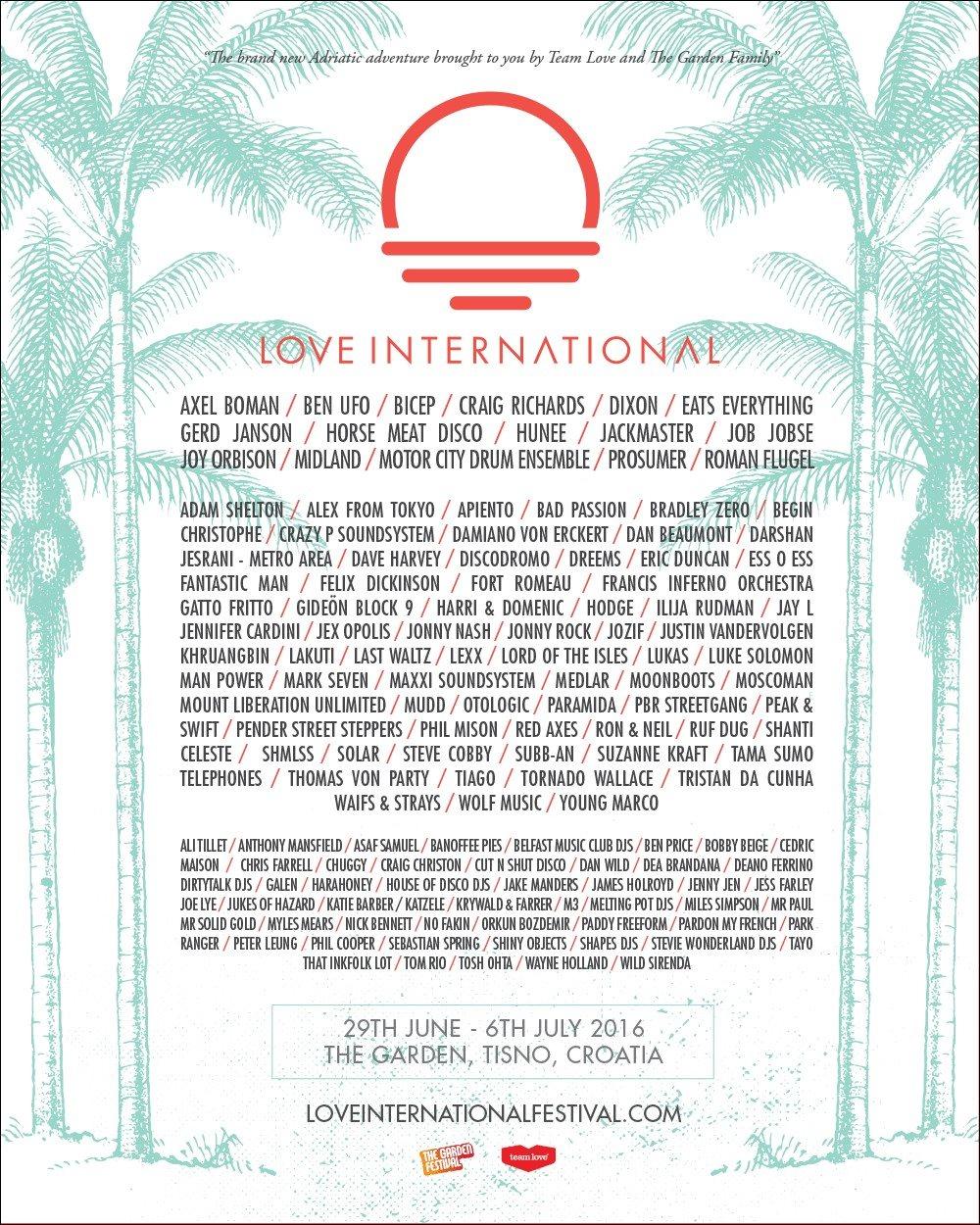 Love International Festival 2016 - Flyer front