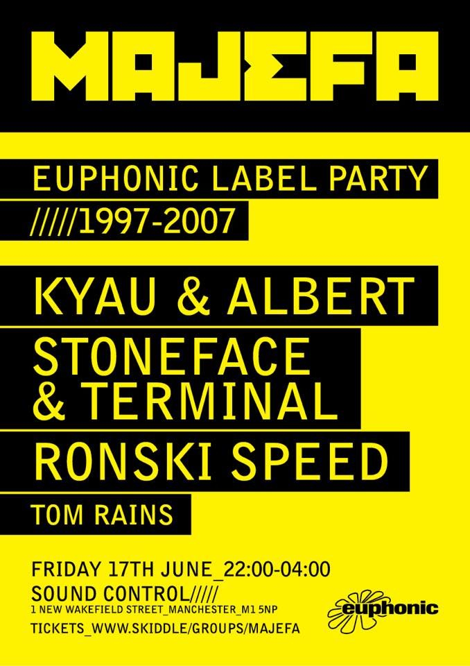 Majefa Pres. Euphonic Label Party 1997 - 2007 - Flyer front