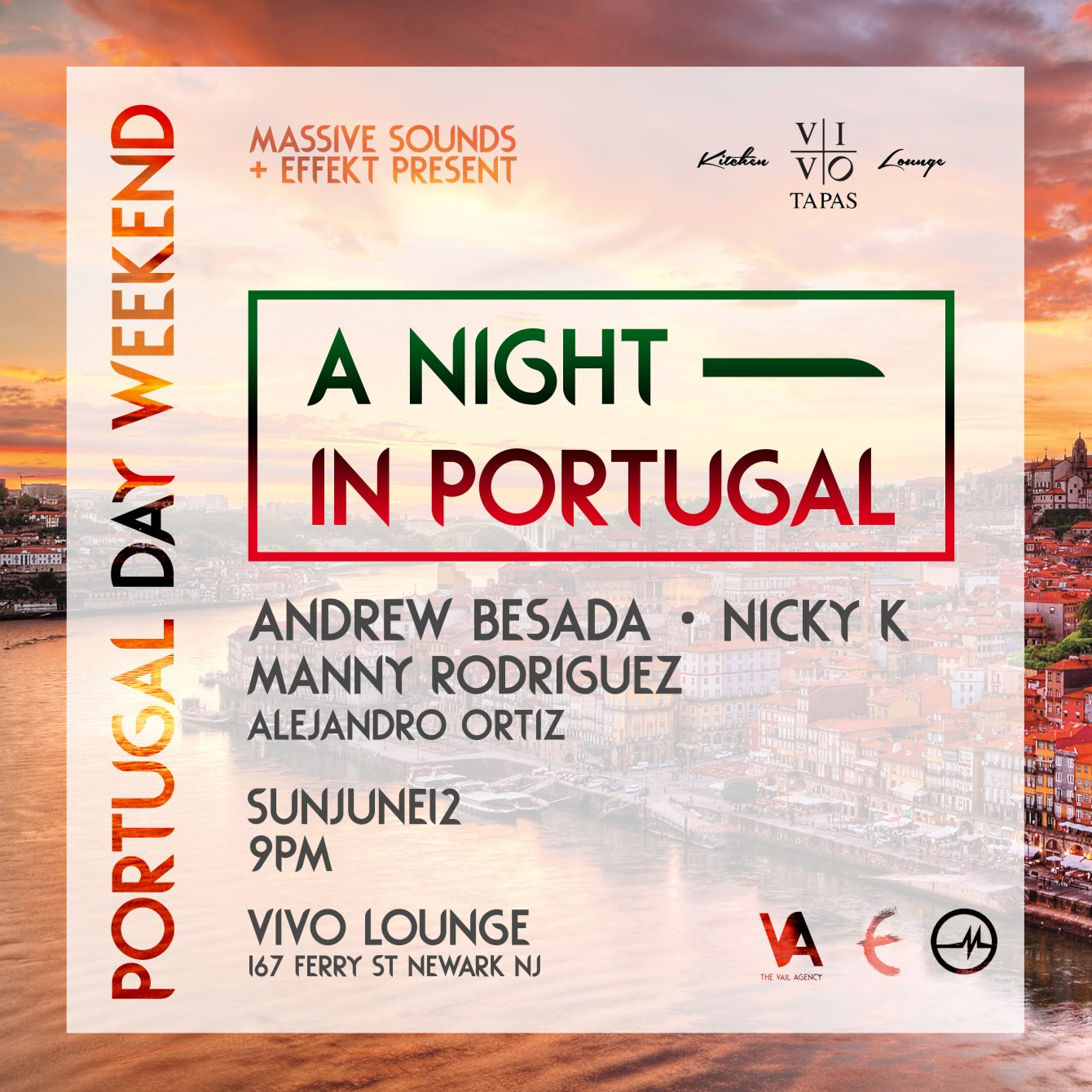 A Night In Portugal - Flyer front