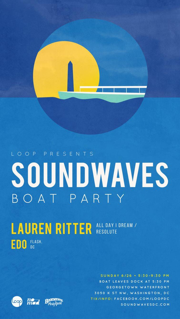 Soundwaves Boat Party - Flyer front
