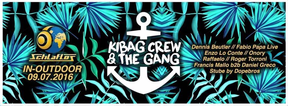 Kibag Crew & The Gang In / Outdoor - Flyer front