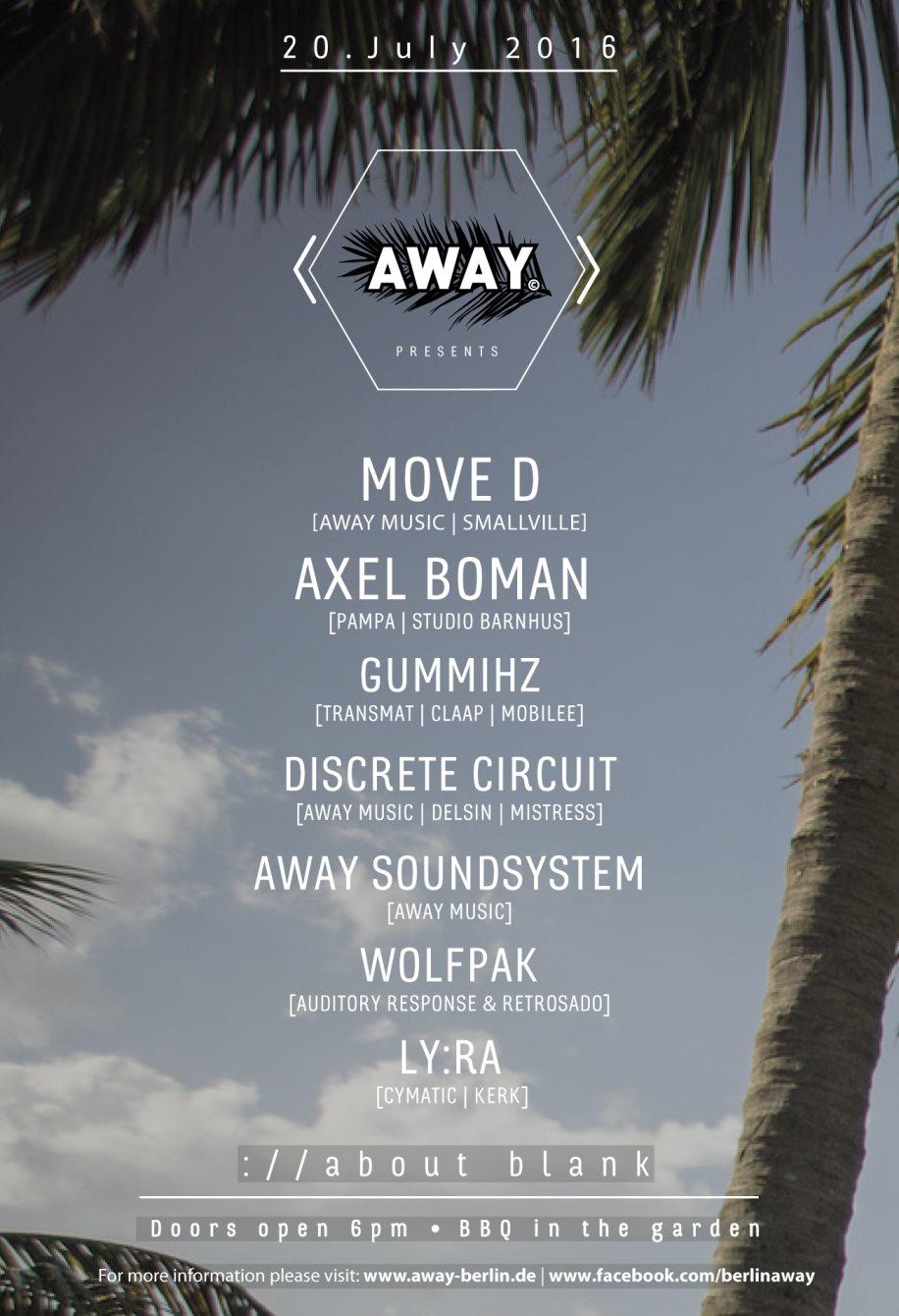 Away - Flyer back