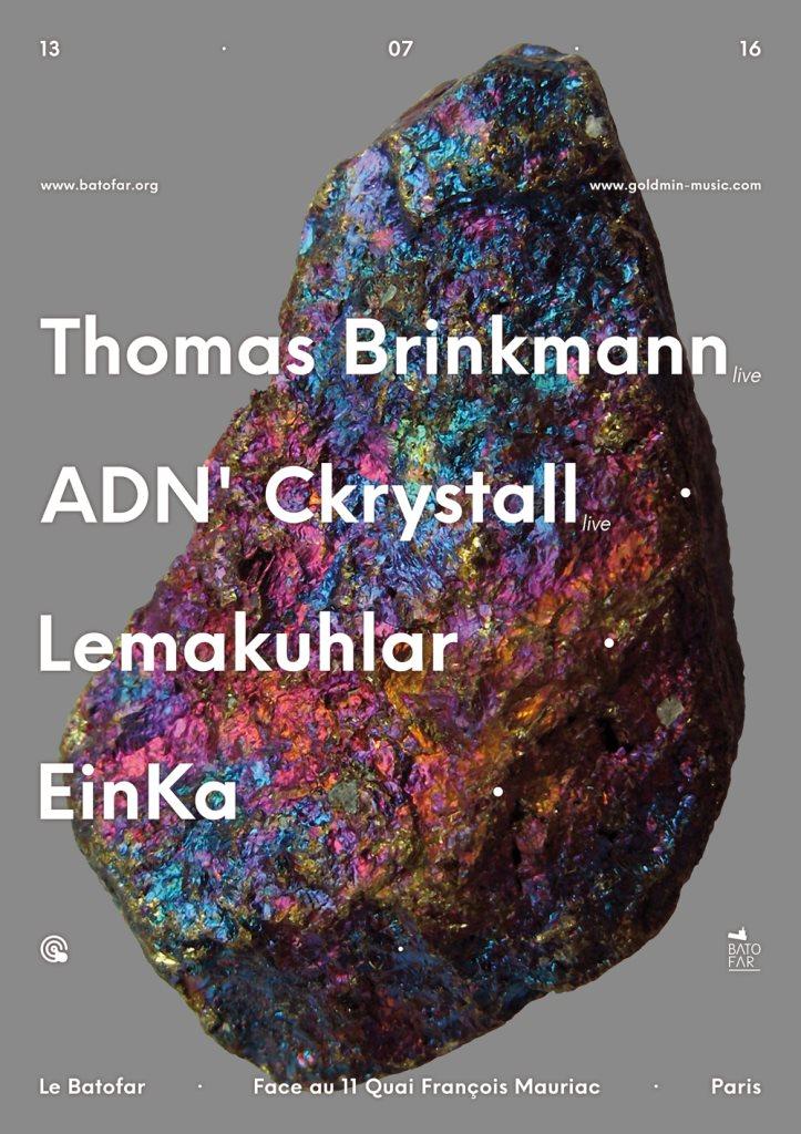Goldmin Music: Thomas Brinkmann, ADN' Ckrystall, Lemakuhlar, Einka - Flyer front