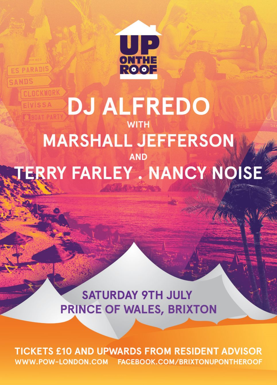DJ Alfredo...Up On The Roof with Marshall Jefferson and Terry Farley - Flyer front