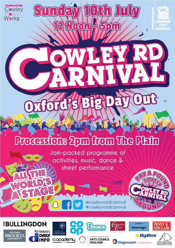 Simple at Cowley Road Carnival 2016 - Flyer front