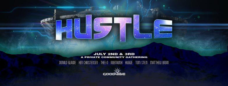 Cosmic Hustle - Flyer front