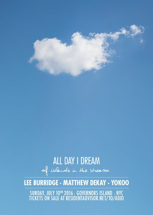 All Day I Dream of Islands in the Stream - Flyer front