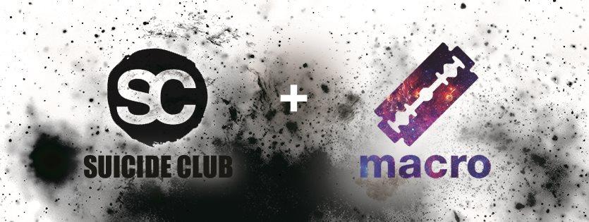 Suicide Club x Macro Lab - Flyer front