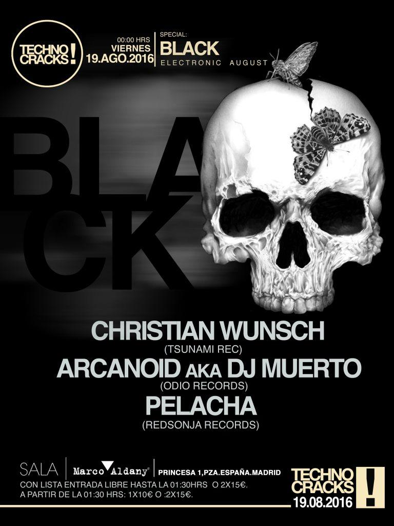 Techno Cracks! Christian Wünsch · Arcanoid · Pelacha - Flyer front