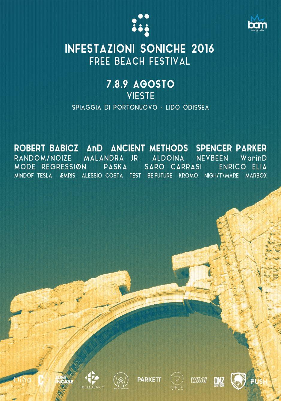 ISF Infestazioni Soniche 2016 - Free Beach Festival - Flyer front