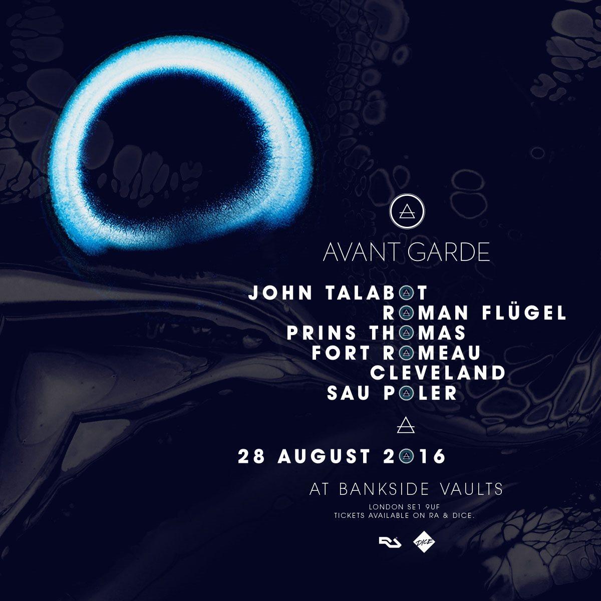 Avant Garde with John Talabot, Roman Flugel, Prins Thomas - Flyer front