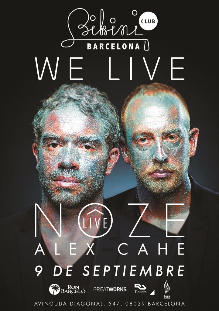 We Live presents Nôze Live at Bikini Barcelona - Flyer front
