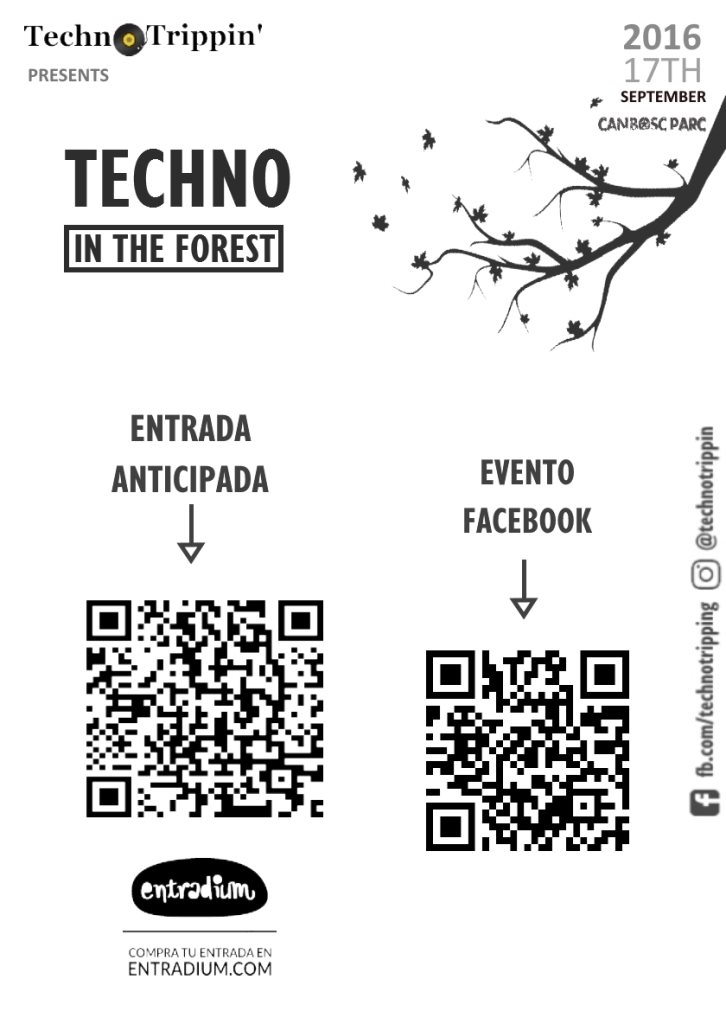 TechnoTrippin' presents: Techno in the Forest (II) - Flyer back