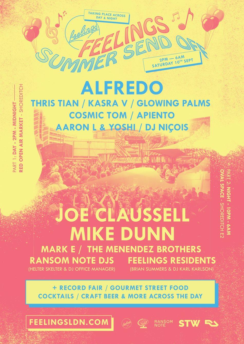 Feelings Summer Send Off - Flyer front