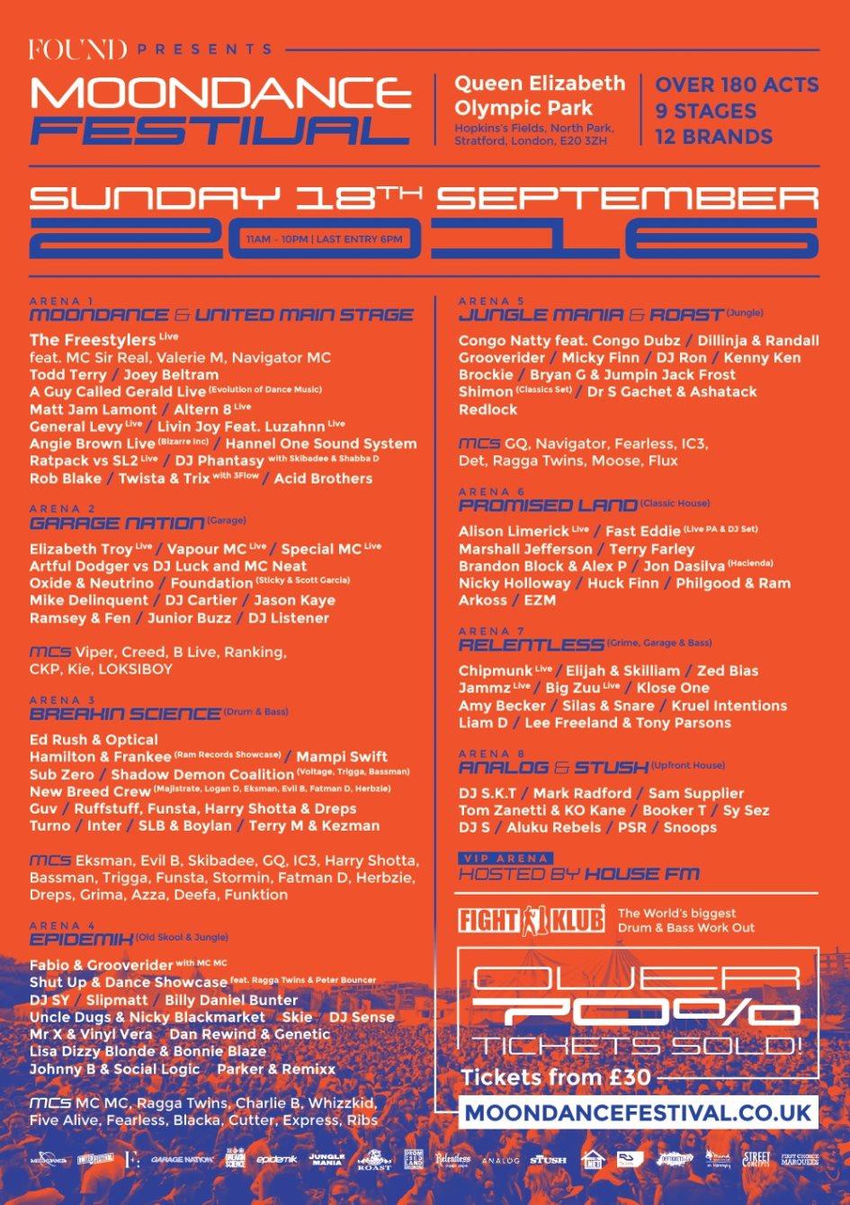 Found presents Moondance Festival 2016 - Flyer front