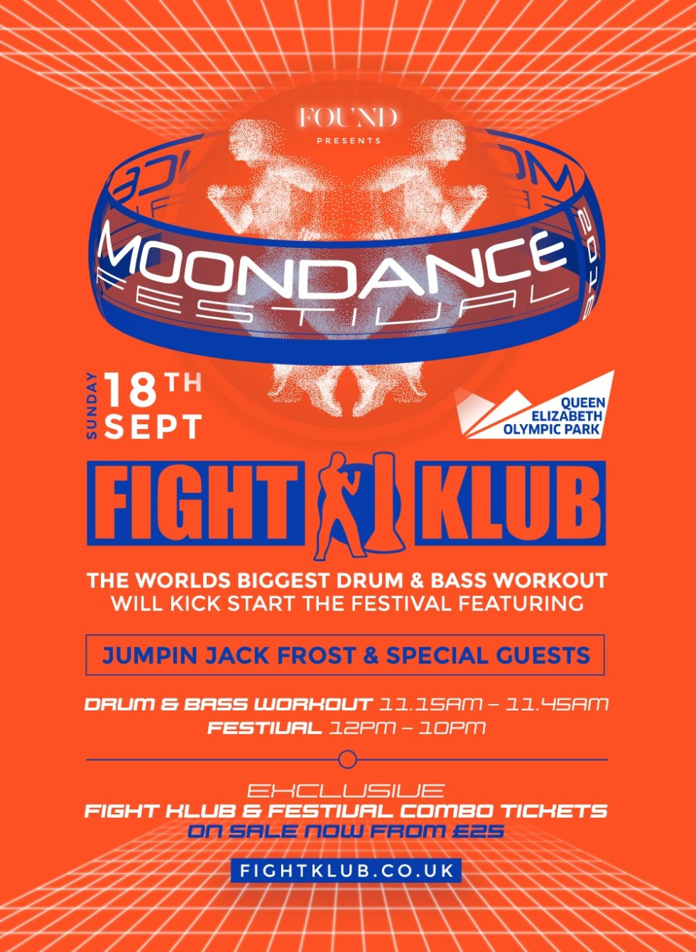 The World's Biggest Drum & Bass Work out at Moondance Festival 2016 - Flyer front