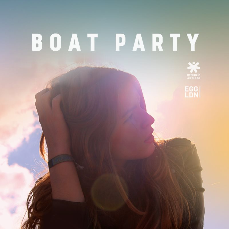 Republic Artists Records Boat Party Followed by Afterparty at Egg - Flyer front