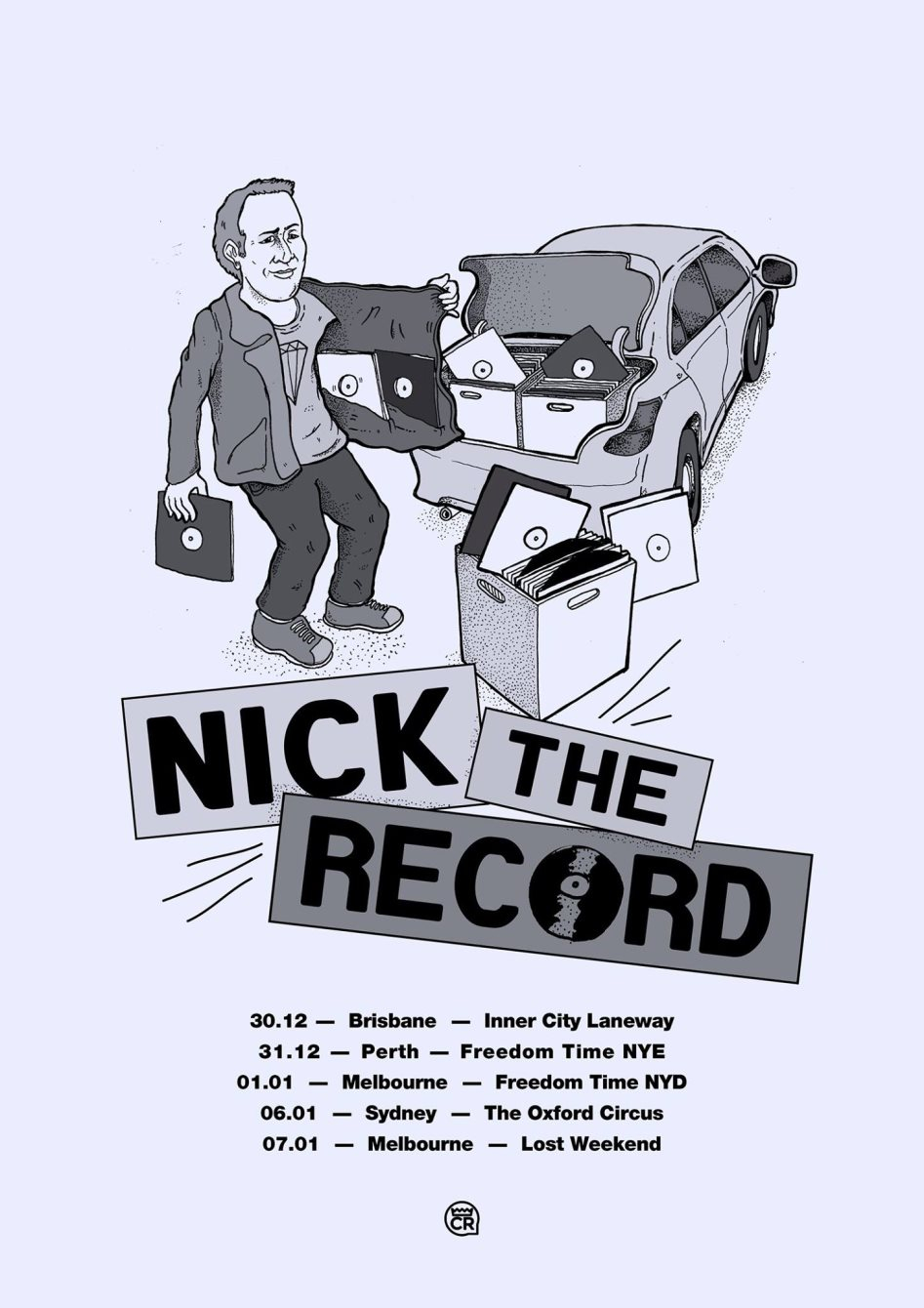 Never Mind The Balearics with Nick The Record - Flyer front