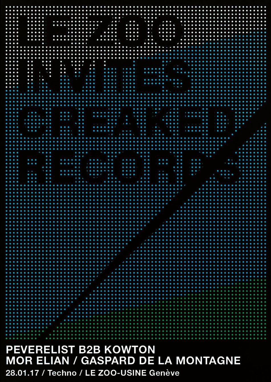 Le Zoo Invites Creaked Records [TECHNO] - Flyer front