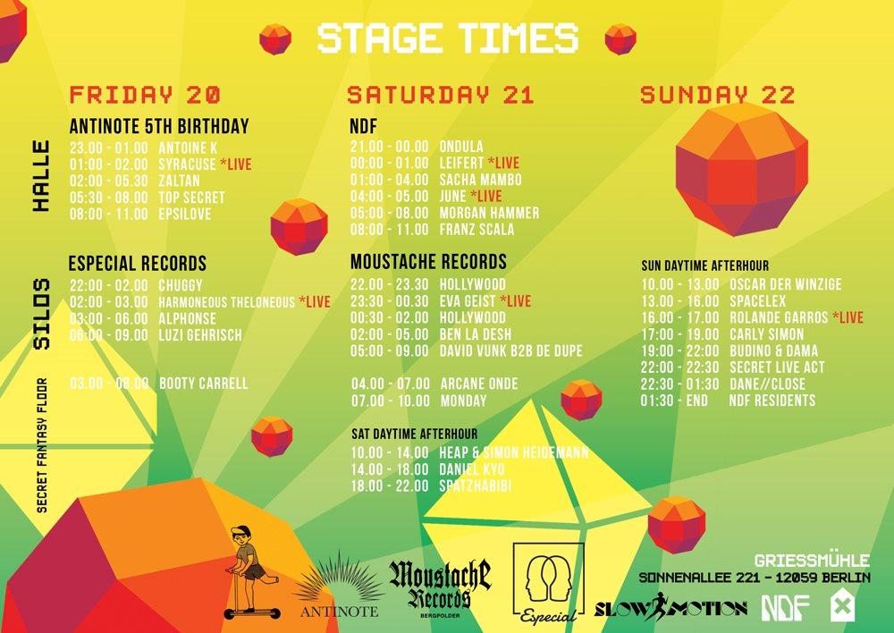 New Dance Fantasy Festival - Winter Label Showcase - Flyer back
