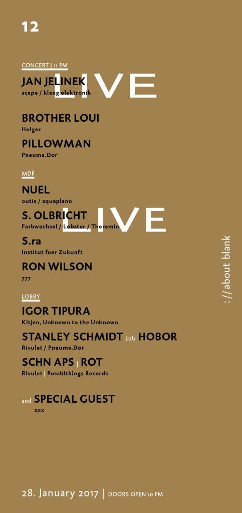 From The Bottom with Jan Jelinek, Nuel, S. Olbricht, Igor Tipura, Bookworms - Flyer back