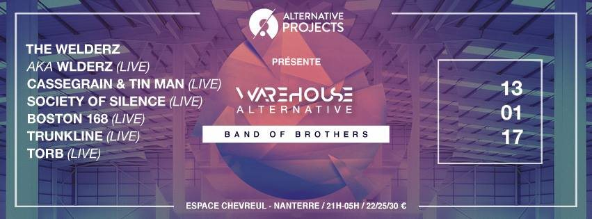 Warehouse Alternative - Band of Brothers - Flyer front