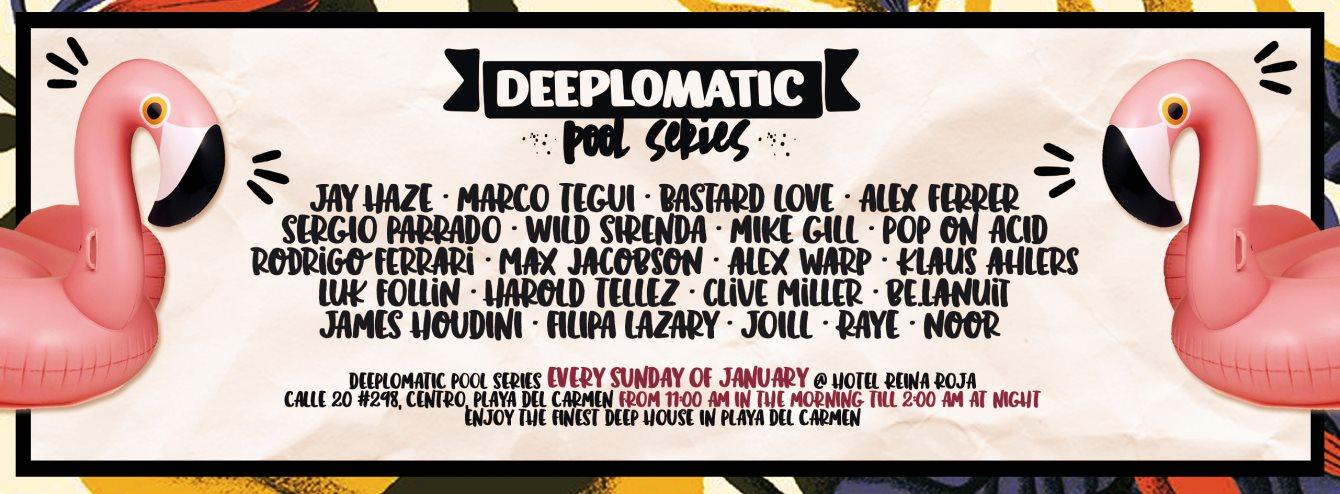 Deeplomatic Pool Series #2 - Flyer back