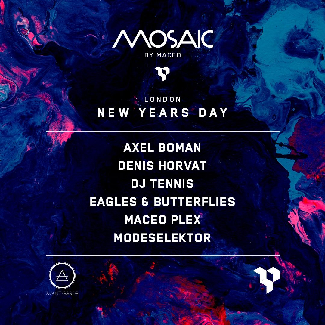 Mosaic by Maceo Plex London - Flyer front