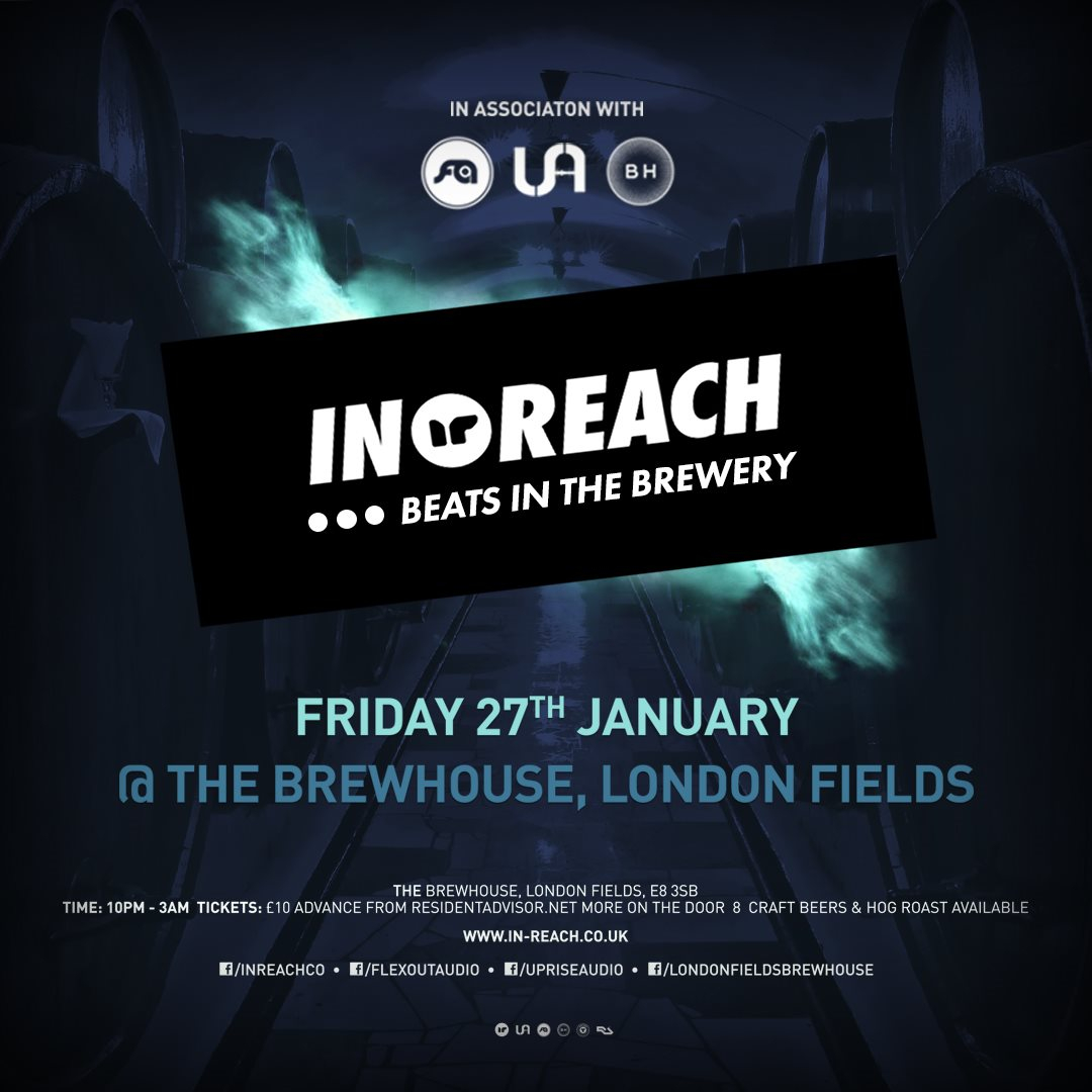 In-Reach: Beats In The Brewery - Flyer front