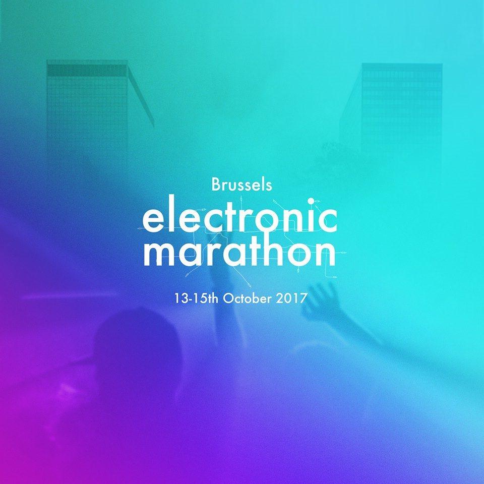 Brussels Electronic Marathon 2017 - Flyer front