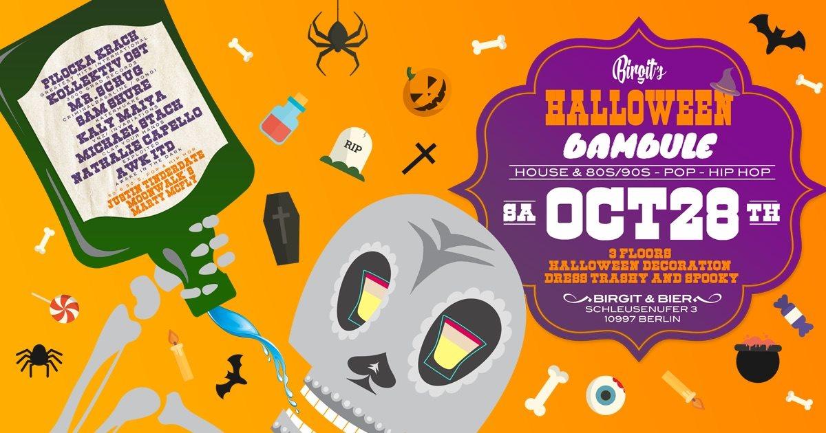 Birgit´s Halloween Bambule (House, 80s 90s, Pop & Hip Hop) - Flyer front
