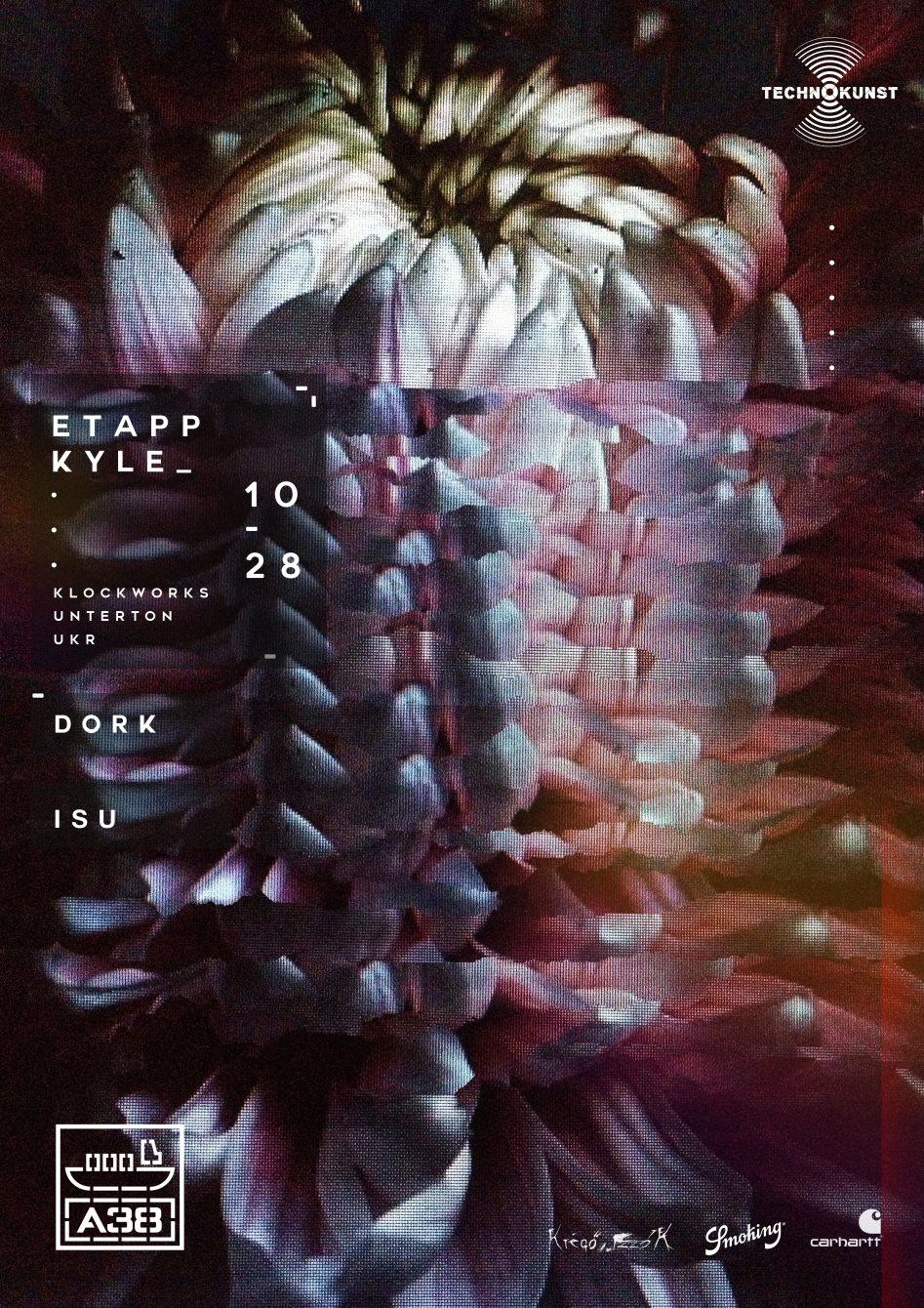 Technokunst with Etapp Kyle - Flyer front