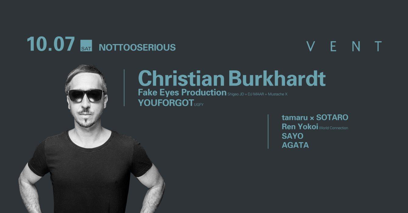 Christian Burkhardt at Nottooserious - Flyer front