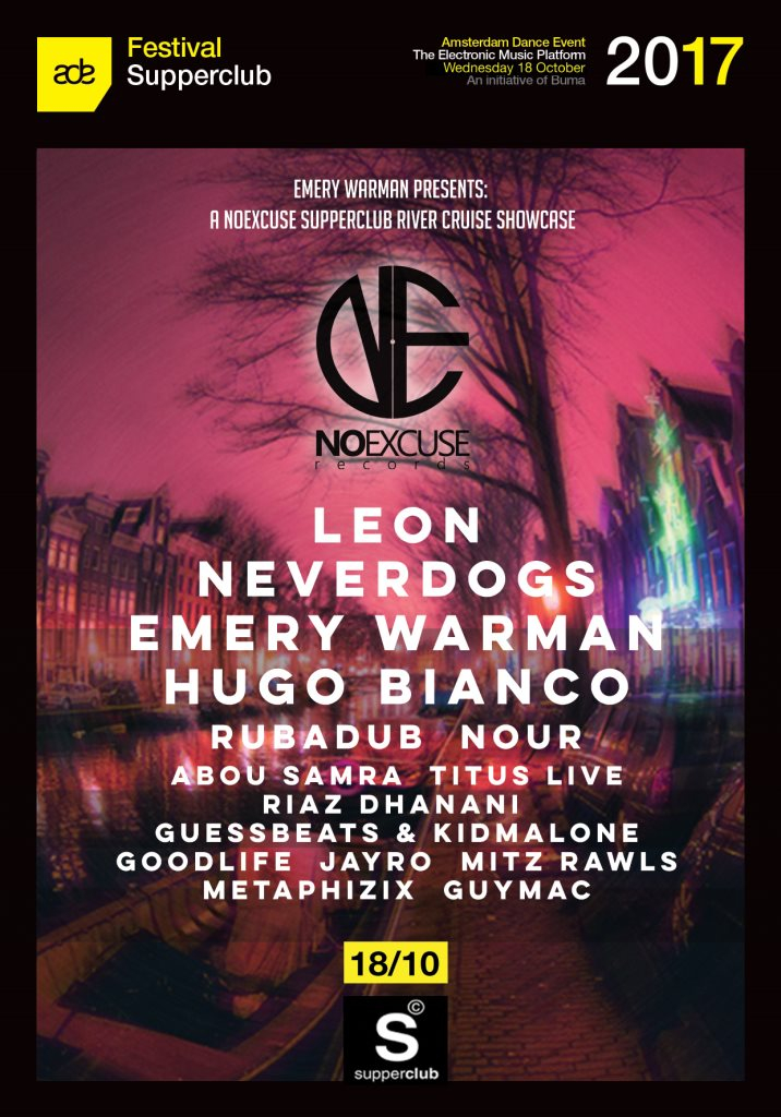 Noexcuse ADE Showcase - Flyer front