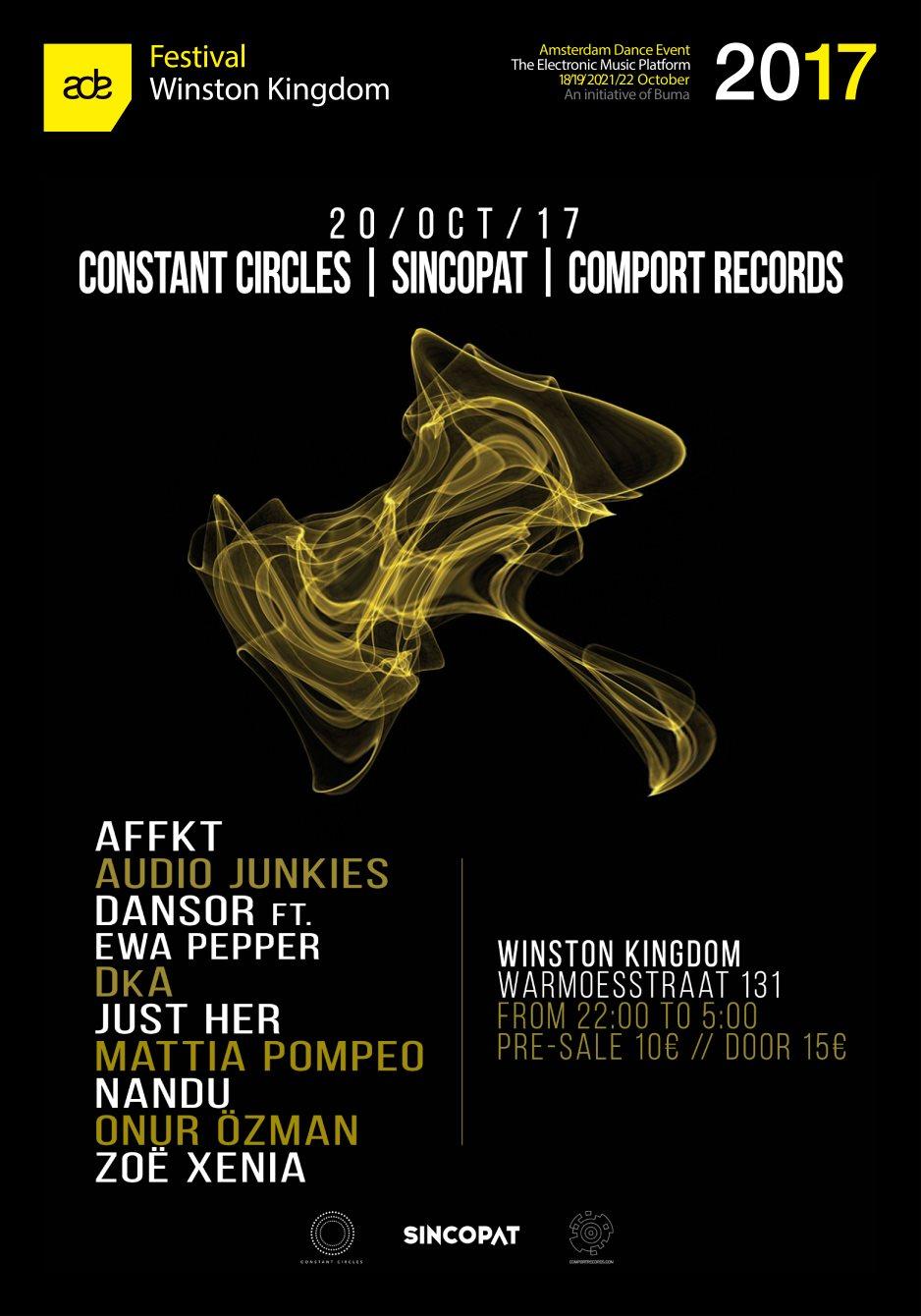 Constant Circles I Sincopat I Comport Records - Flyer front