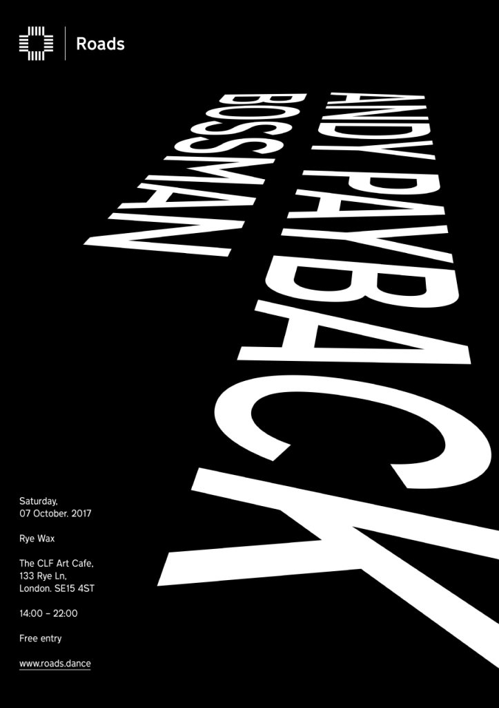 Roads 09: Andy Payback & Bossman - Flyer front