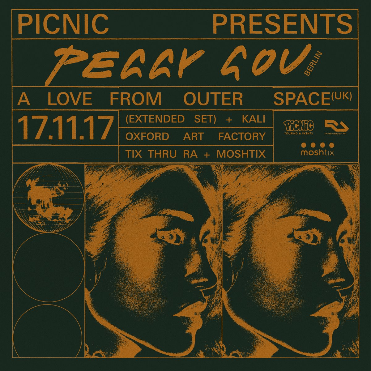 Picnic presents Peggy Gou + A Love From Outer Space - Flyer front