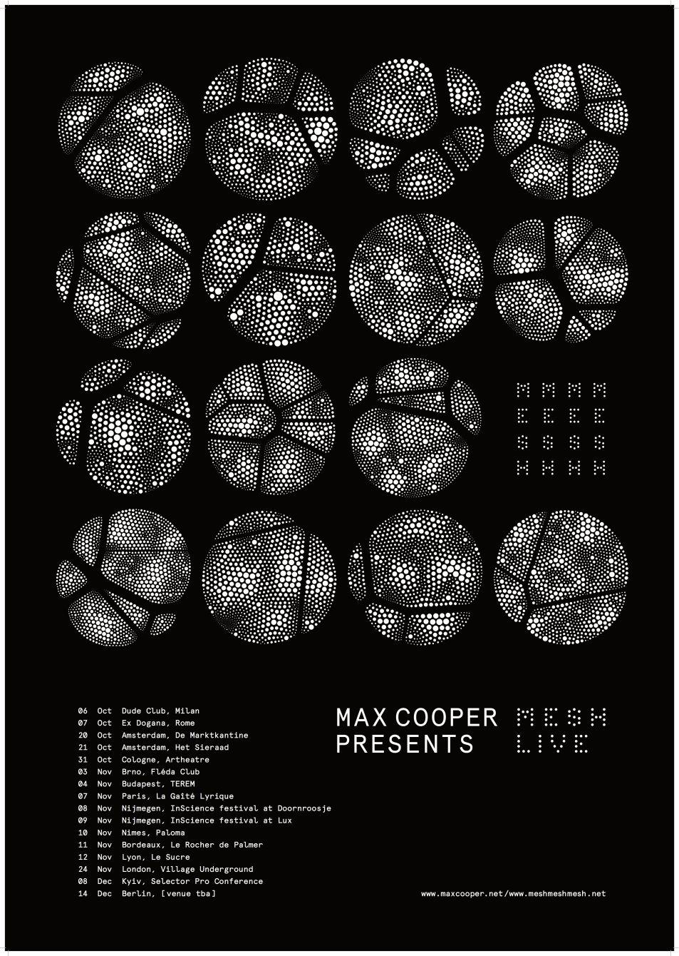 Max Cooper - MESH Live - Flyer front