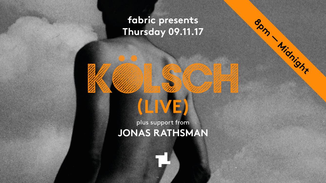 fabric presents: Kolsch (Live) - Flyer front