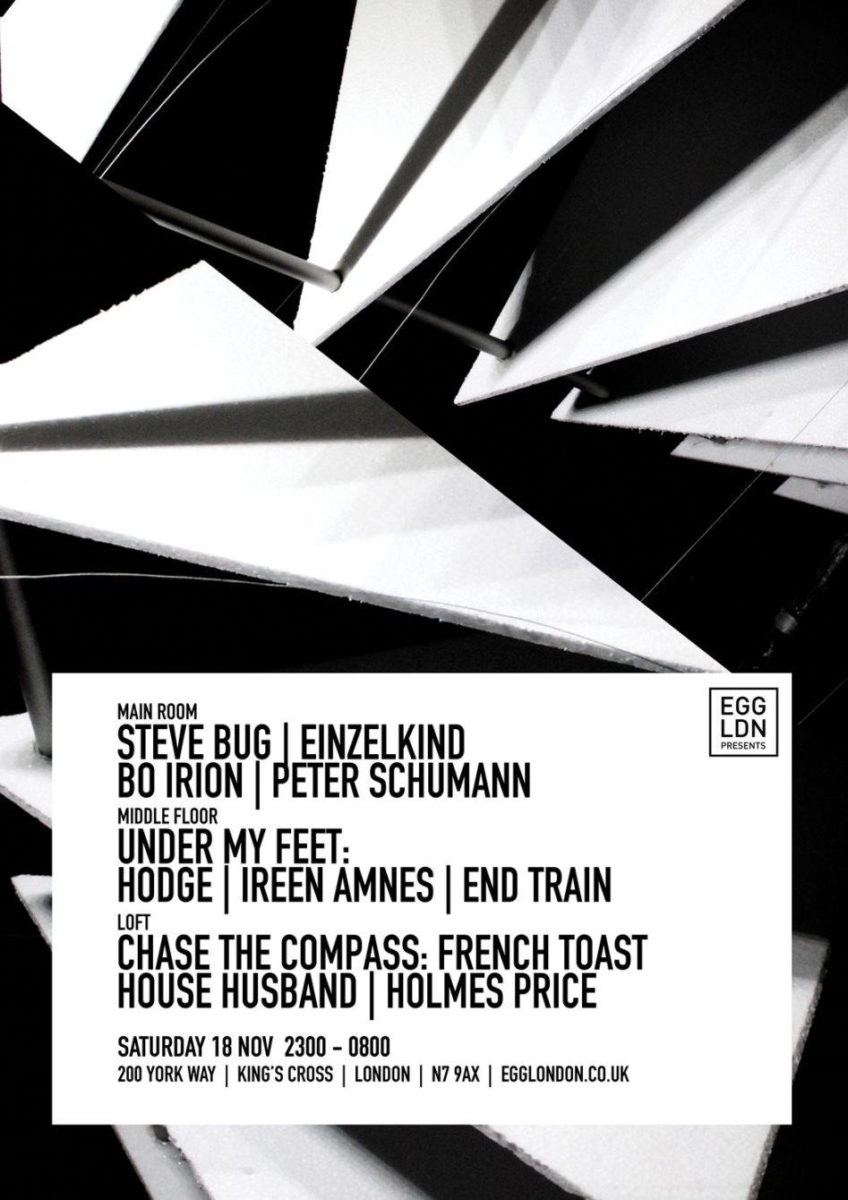 EGG presents: Steve Bug, Einzelkind, Hodge and More - Flyer front