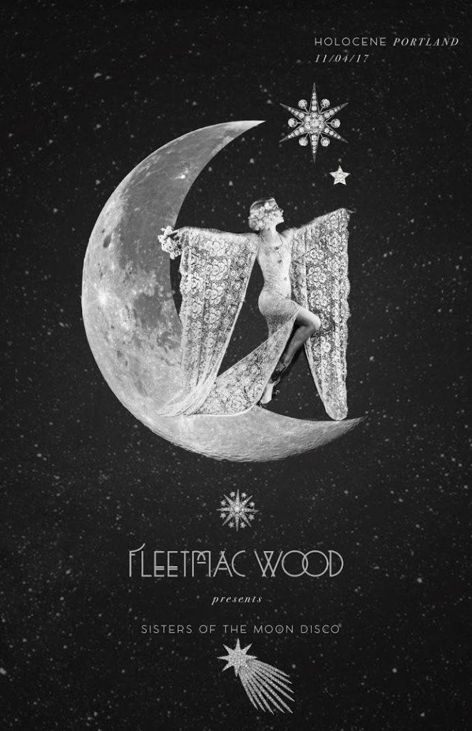 Fleetmac Wood presents Sisters of the Moon Disco - Portland - Flyer front