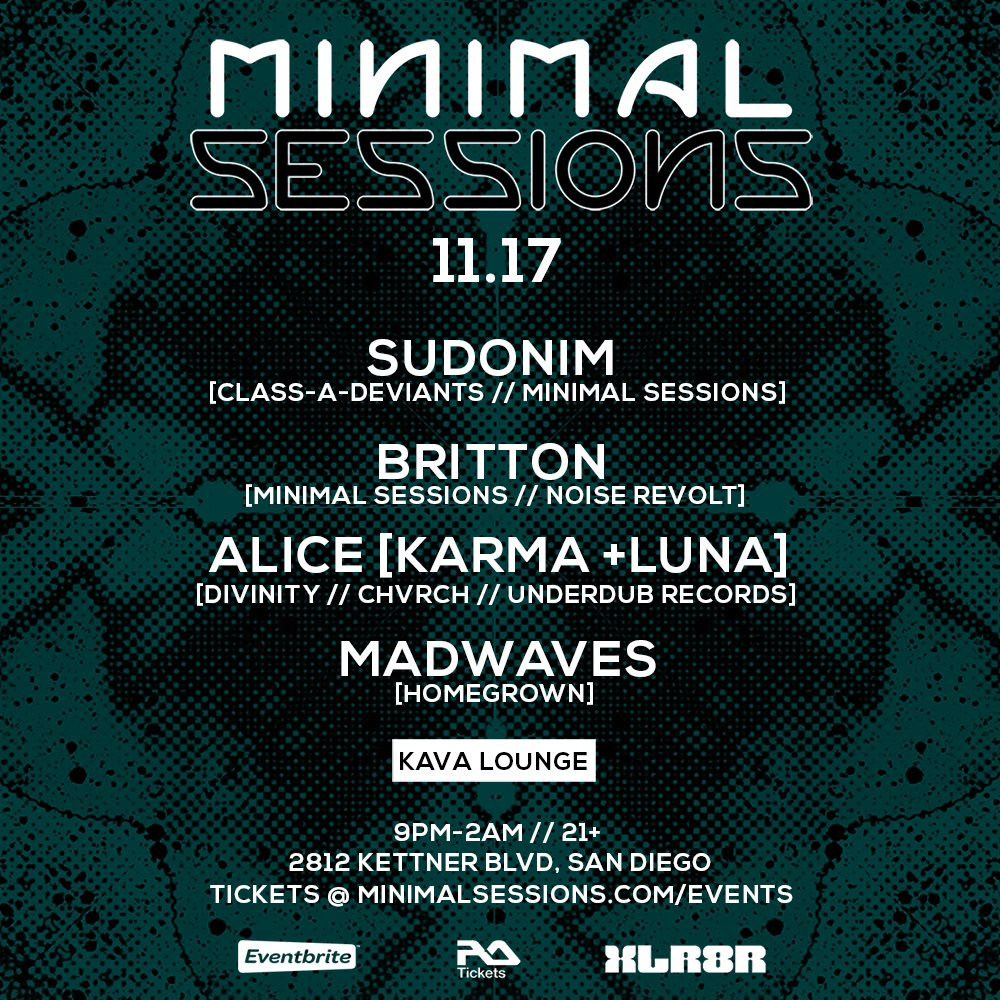 Minimal Sessions - Flyer front
